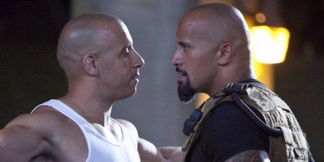 Dwayne Johnson y Vin Diesel cara a cara en Fast & Furious 5
