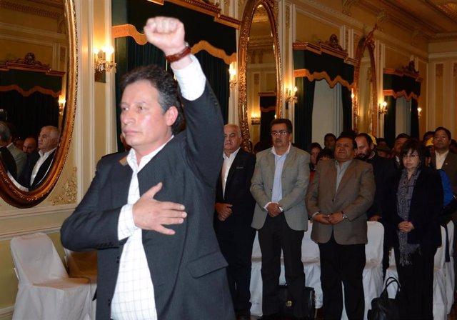 El exministro de Minería de Bolivia César Navarro.