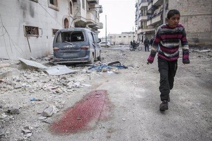 Más de 6.500 niños al día se vieron forzados a huir durante la semana pasada en el noroeste de Siria