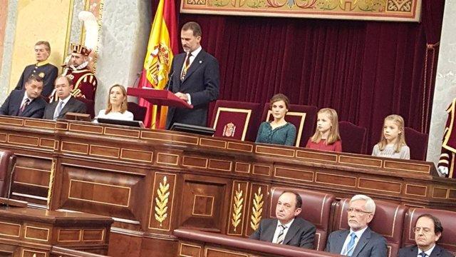 El Rey abre mañana la XIV Legislatura en el Congreso, con Podemos en el Gobierno