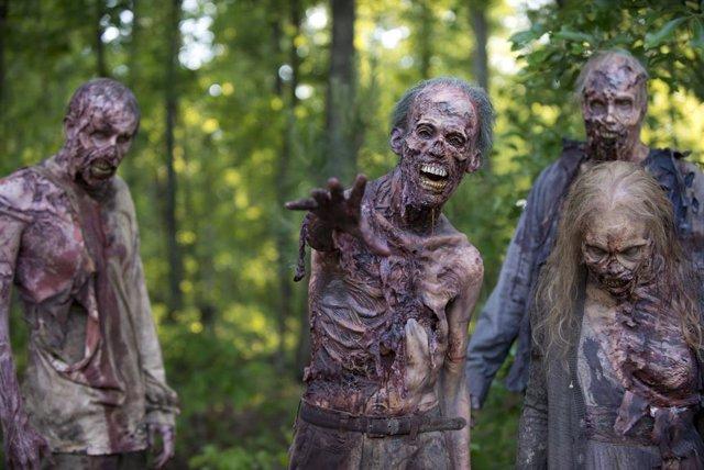 Imagen de los zombis de The Walking Dead