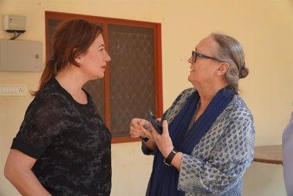Armengol inaugurará el próximo lunes una colonia de viviendas para 78 mujeres y sus familias y un colegio en la India