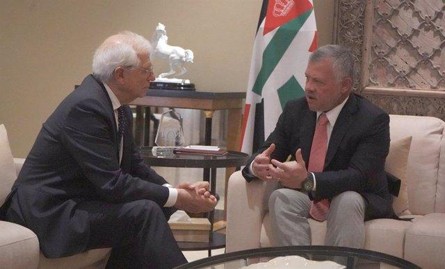 Jordania.- Borrell se entrevista con el rey de Jordania en Amán
