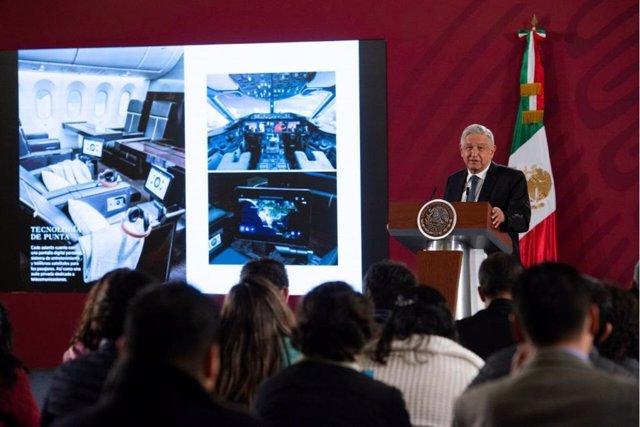 México.- López Obrador asegura que Canadá no quiso comprar el avión presidencial