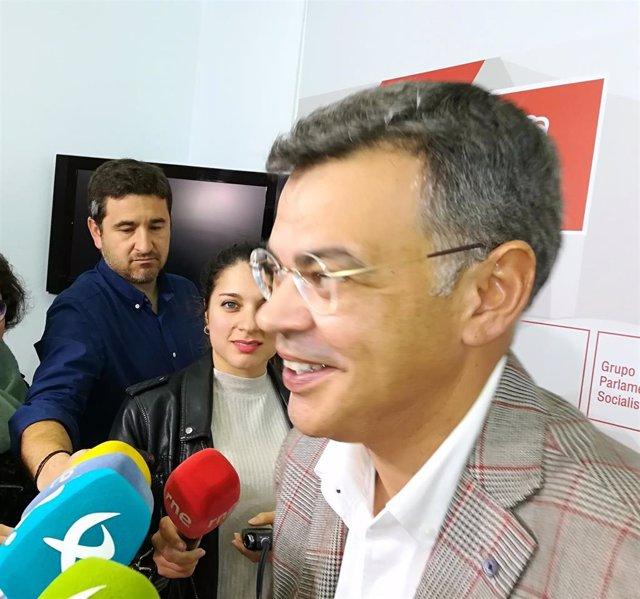 Juan Antonio González en declaraciones a los medios de comunicación