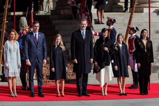Els reis en l'obertura solemne de la XIV Legislatura