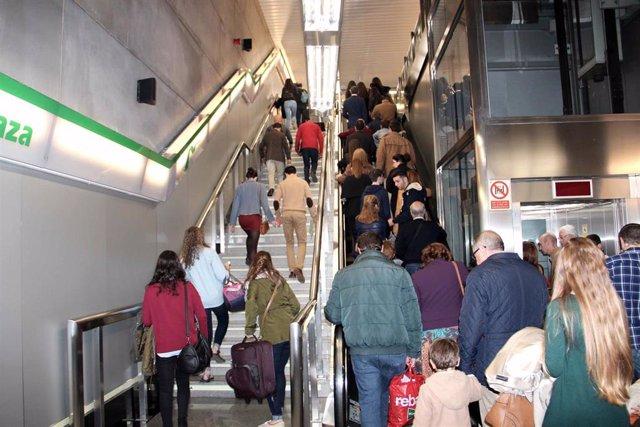 Una imagen del metro de Sevilla