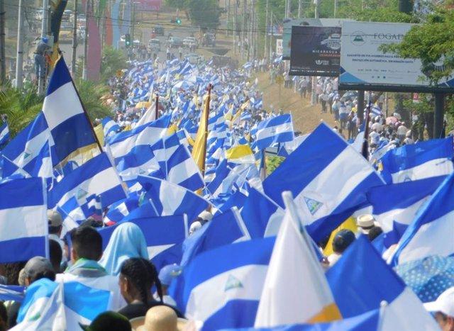 Imagen de archivo de las manifestaciones en Nicaragua.