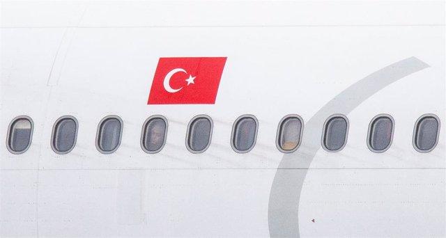 Un avión de la aerolínea Turkish Airlines