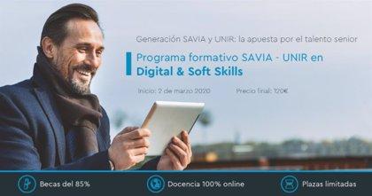 Generación SAVIA y UNIR lanzan un programa formativo para fomentar la empleabilidad de los mayores de 50 años