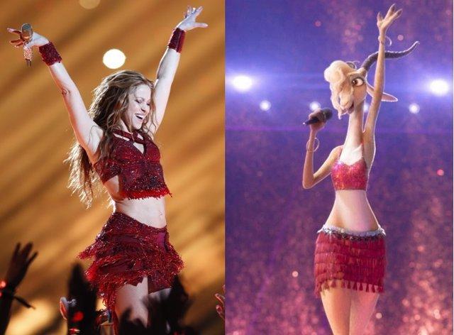 Shakira se vistió en la Super Bowl igual que su personaje en el filme Zootropolis