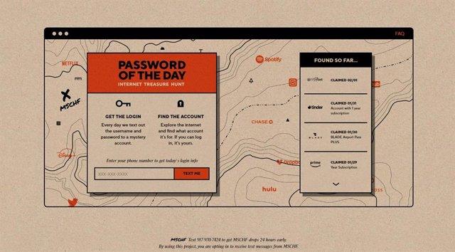 La búsqueda del tesoro 'online': revelan un usuario y una contraseña y quien enc
