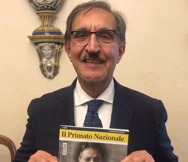 Coronavirus.- El vicepresidente del Senado italiano recomienda el saludo fascist