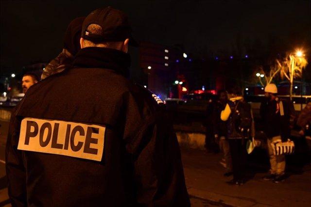 Desalojo de un campamento de migrantes en París