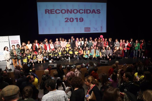 Acto 'Reconocidas' de la Diputación de Málaga del año 2019