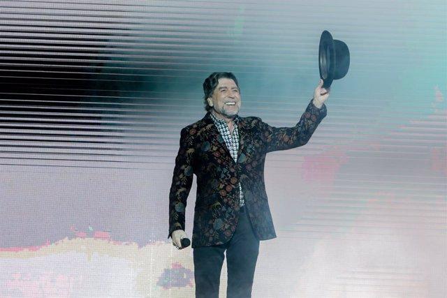El cantante Joaquín Sabina actúa en el WiZink Center de Madrid el 20 de enero del 2020.