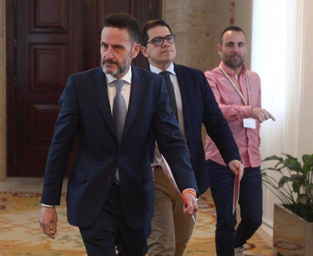 El portaveu adjunt de Ciutadans al Congrés, Edmundo Bal, i el diputat de Cs per Barcelona José María Espejo.