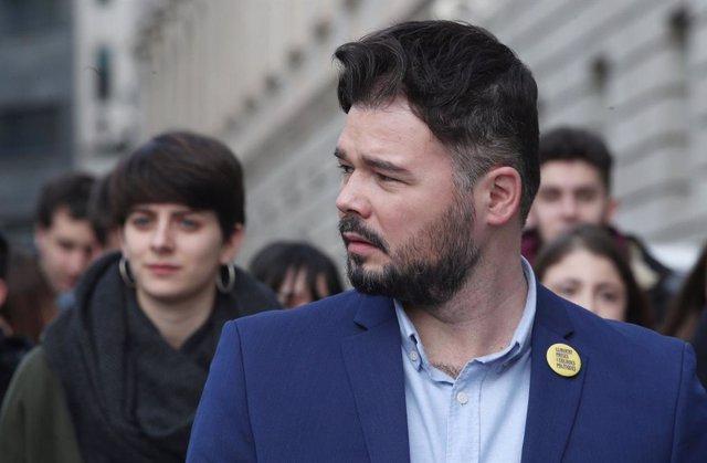 El portaveu adjunt d'Esquerra Republicana (ERC),  Gabriel Rufián (arxiu)