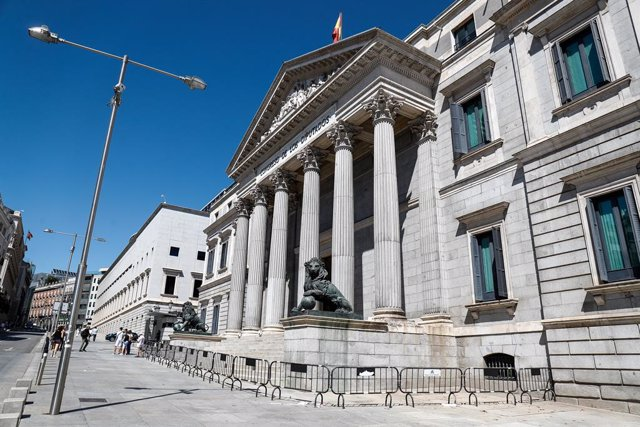 Faana del Congrés dels Diputats a la Plaa de les Corts a Madrid (arxiu).