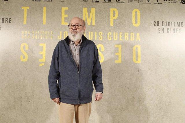 El director José Luis Cuerda durant la presentació de la pel·lícula 'Tiempo después' a Madrid.