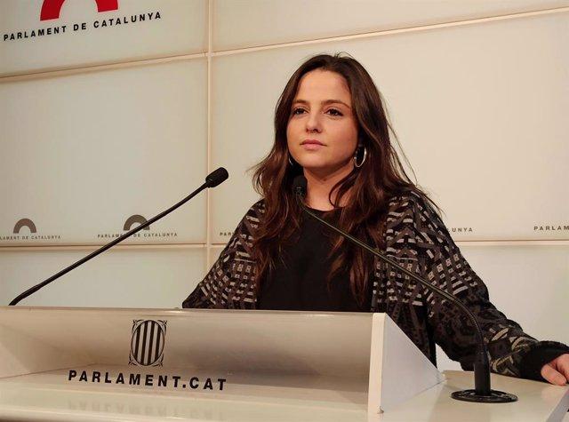 La diputada de la CUP al Parlament Maria Sirvent.