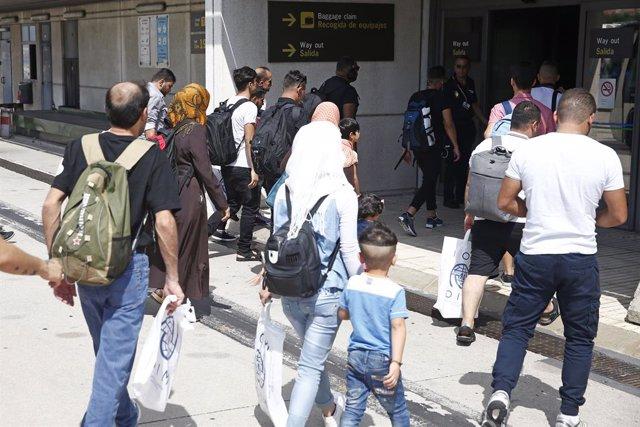Arribada de refugiats.