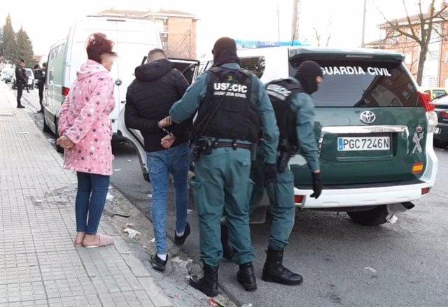 Actuación de la Guardia Civil en el marco de la operación europea 'Mocy' contra el tráfico de drogas.