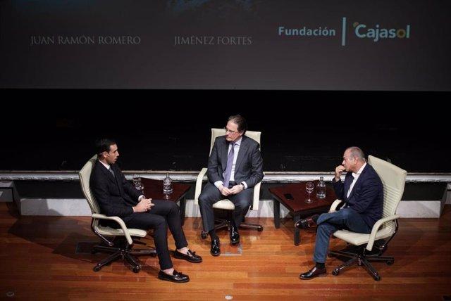 Saúl Jiménez Fortes y Juan Ramón Romero, en los Mano a Mano de Cajasol