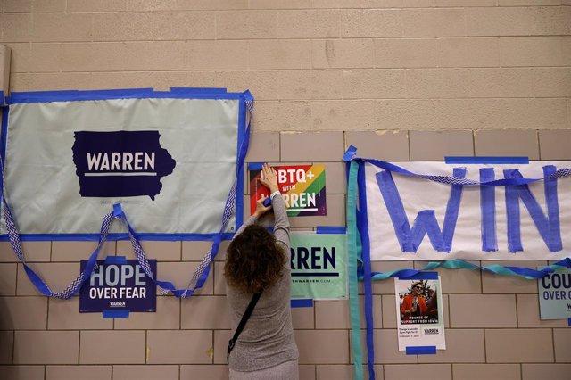 EEUU.- Los primeros resultados de los caucus de Iowa dan a Buttigieg una estrech