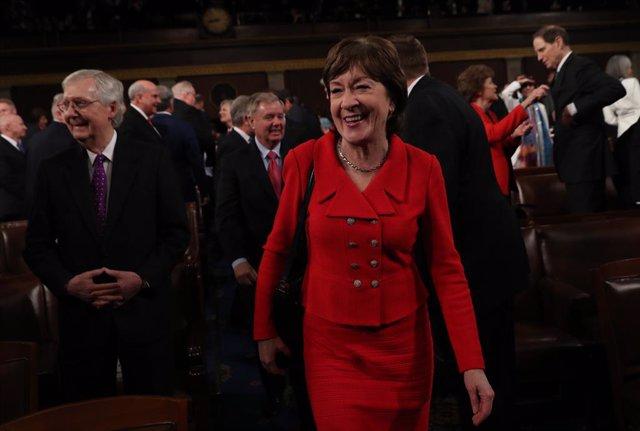 EEUU.- La senadora Susan Collins anuncia que votará a favor de absolver a Trump