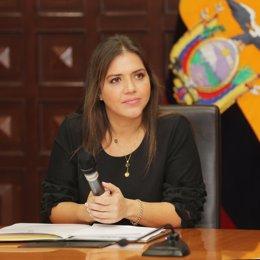 La exvicepresidenta de Ecuador María Alejandra vicuña.
