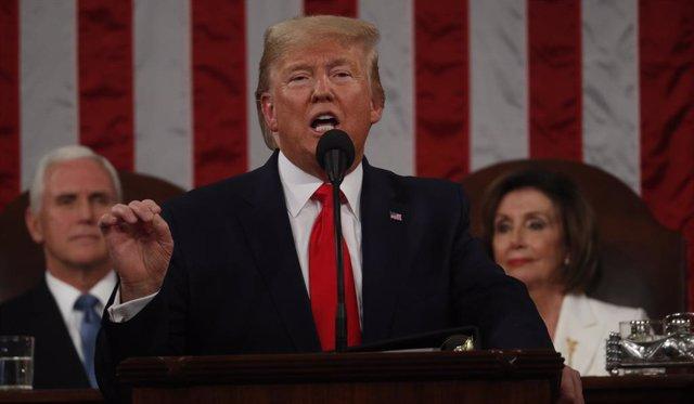 VÍDEO: Trump ataca a la inmigración y presume de sus logros económicos durante e