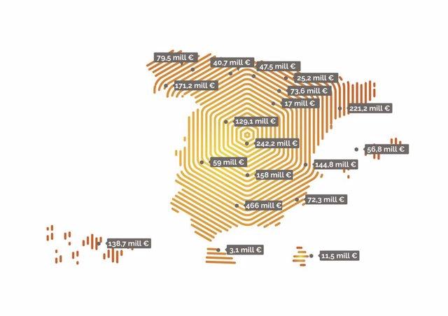 Mapa de la posventa en España