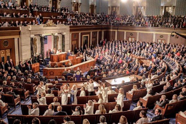 4 de febrer del 2020 , Washington, DC (EUA): Discurs del president dels EUA, Donald Trump sobre l'estat de la Unió a la Cambra de Representants. (Alex Wroblewski / CNP / Contacte)