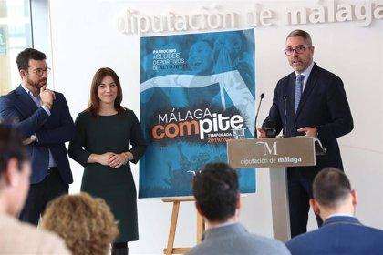 La Diputación lanza el plan 'Málaga Compite' para apoyar a clubes deportivos de alto nivel de la provincia