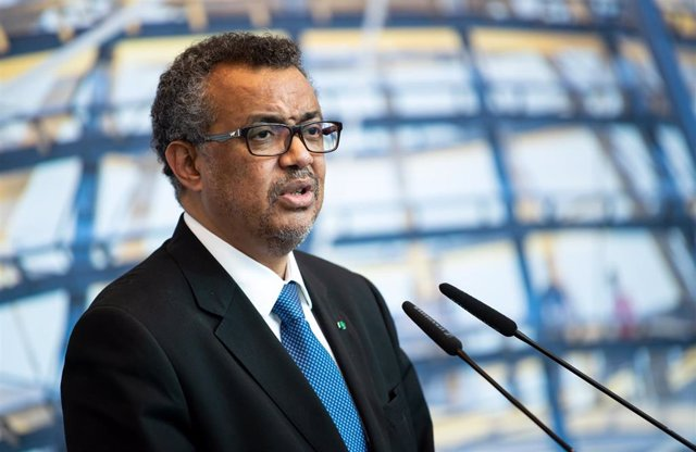 FILED - 08 May 2019, Berlin: Tedros Adhanom Ghebreyesus, Director General of the World Health Organization (WHO), speaks at the congress of the CDU/CSU parliamentary group in the German Bundestag. Countries that fly their citizens out of China because of