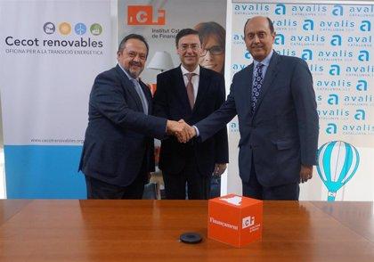 El ICF, Avalis y Cecot promoverán la financiación de proyectos de transición energética