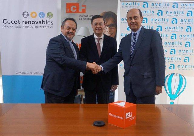 COMUNICADO:El ICF, Avalis y Cecot firman un convenio para promover la financiación de proyectos de transición energética