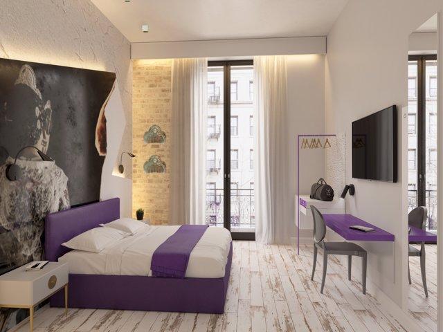 Habitación doble del 'Hotel Socarrat'