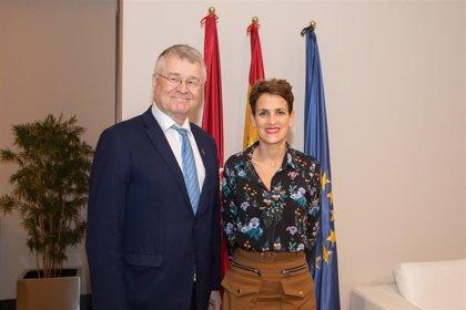 Chivite se reúne con el vicepresidente del Comité de las Regiones de la UE