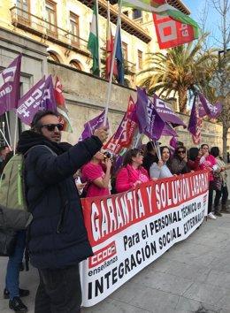 Nuevas protestas en todas las provincias andaluzas de las PTIS e ILSE