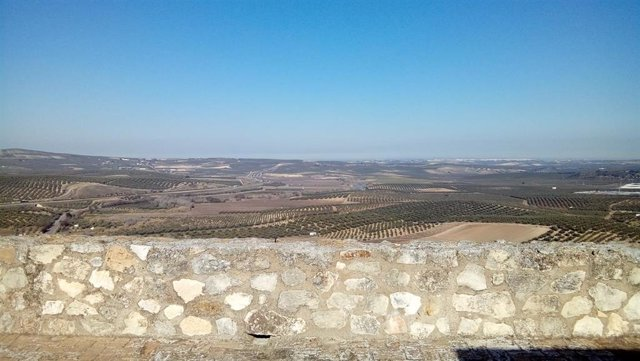 Comarca de la Campiña Sur vista desde el castillo de Monturque