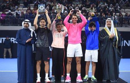 Nadal y Ferrer inauguran la 'Rafa Nadal Academy Kuwait' con un partido de exhibición