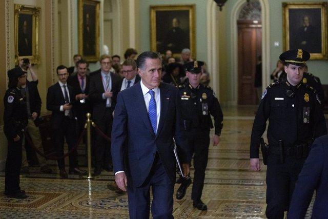 EEUU.- Romney se desmarca de los republicanos y votará contra Trump en el juicio