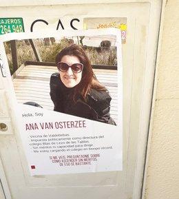 Cartel contra la directora del colegio Blas de Lezo