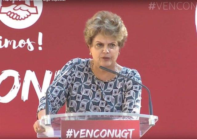 La expresidenta brasileña, Dilma Rousseff