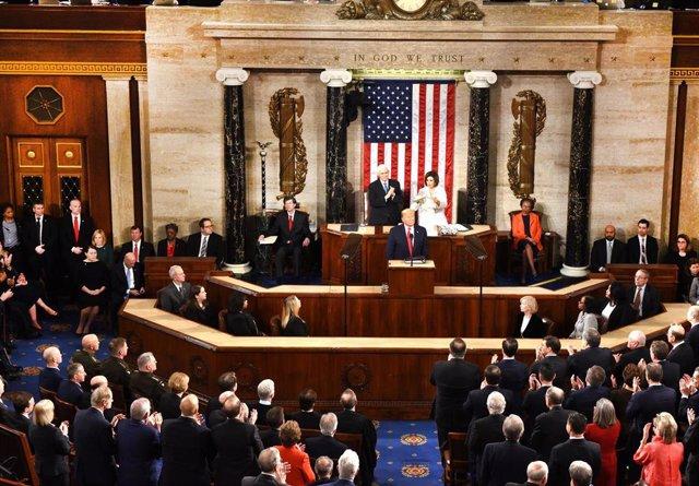 El presidente de Estados Unidos, Donald Trump, pronuncia su discurso sobre el Estado de la Unión.