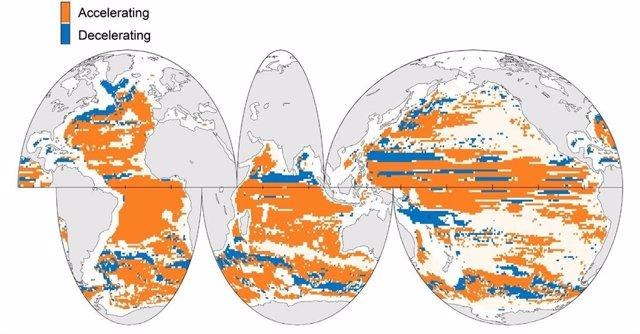 Gran aceleración de la circulación oceánica en los últimos 20 años
