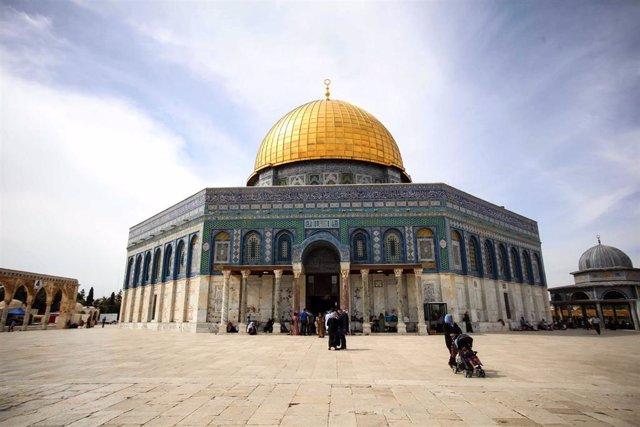 Mezquita de la Cúpula de la Roca, en la Explanada de las Mezquitas en Jerusalén