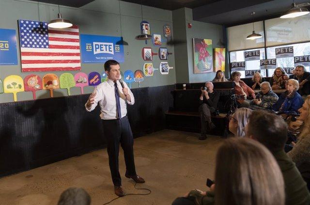 EEUU.- Buttigieg se perfila como ganador de los caucus de Iowa con una ventaja m